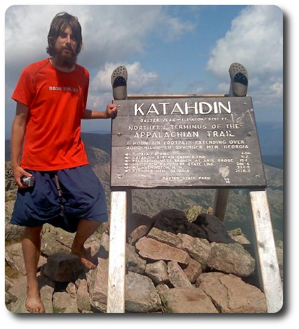 Me on top of Mt. Katahdin in Maine