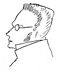 A sketch of Max Stirner made by Friedrich Engels for John henry mackay.